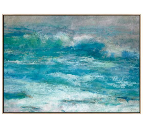 Morning at the Beach Canvas, Pottery Barn $599. Dining Room?