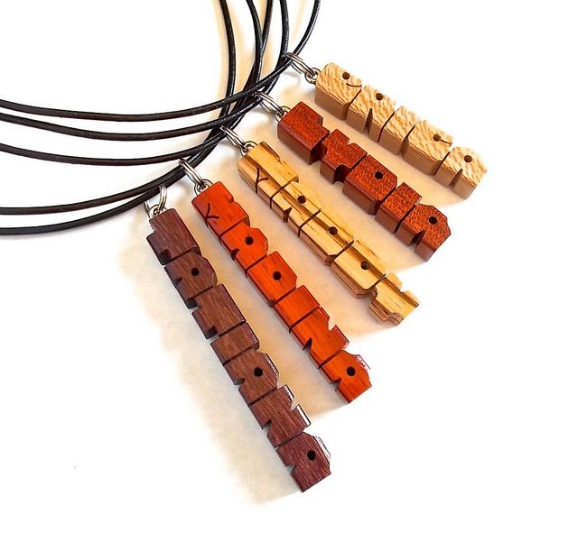 Mixed Woods MiniTag Pendants | https://www.etsy.com/shop/DustyNewt?section_id=15557159&ref=shopsection_leftnav_7