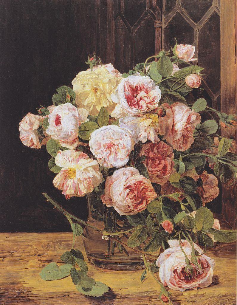 Розы в картинах художников фото с названиями