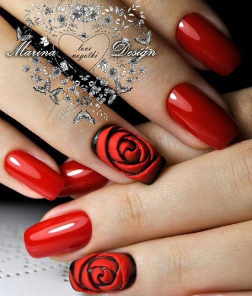 Manikyur Video Uroki Art Simple Nail Romantic Nails Valentines Nails Nail Designs