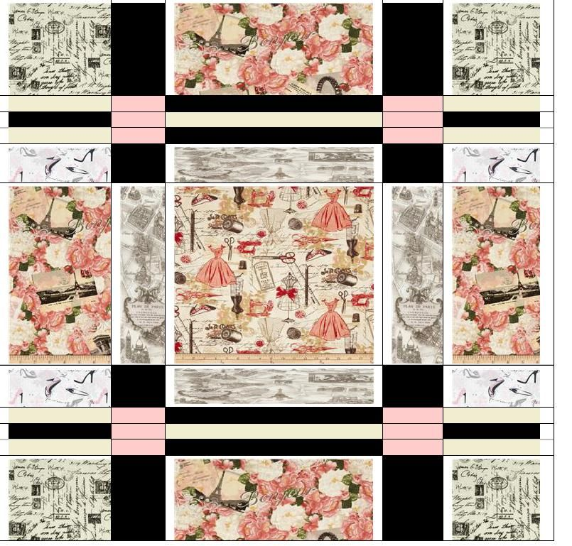 Quilt Idea, Timeless Treasures Fabric Quilt designed by Terry Mann