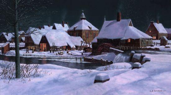 Schenectady Town in Winter