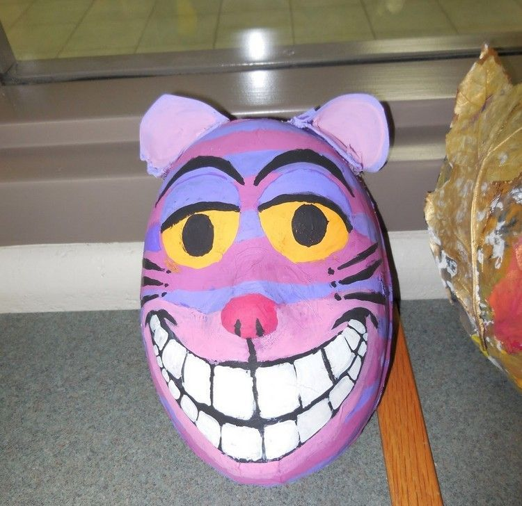 Grinsekatze Maske Selber Machen Fasching Pinterest