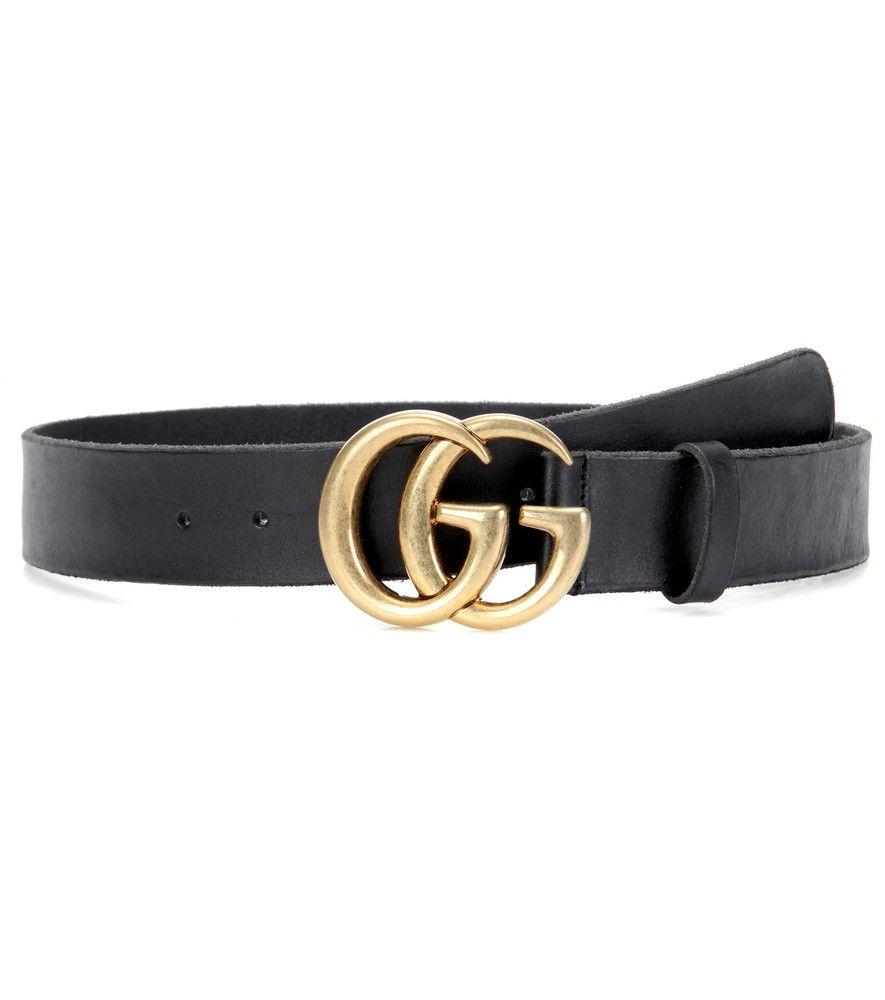 c7c8b2c8660f Gucci - Ceinture en cuir à ornement - Ornée de la mythique boucle dorée à  double G, cette ceinture en cuir noir signée Gucci vous étonnera par sa  simplicité ...