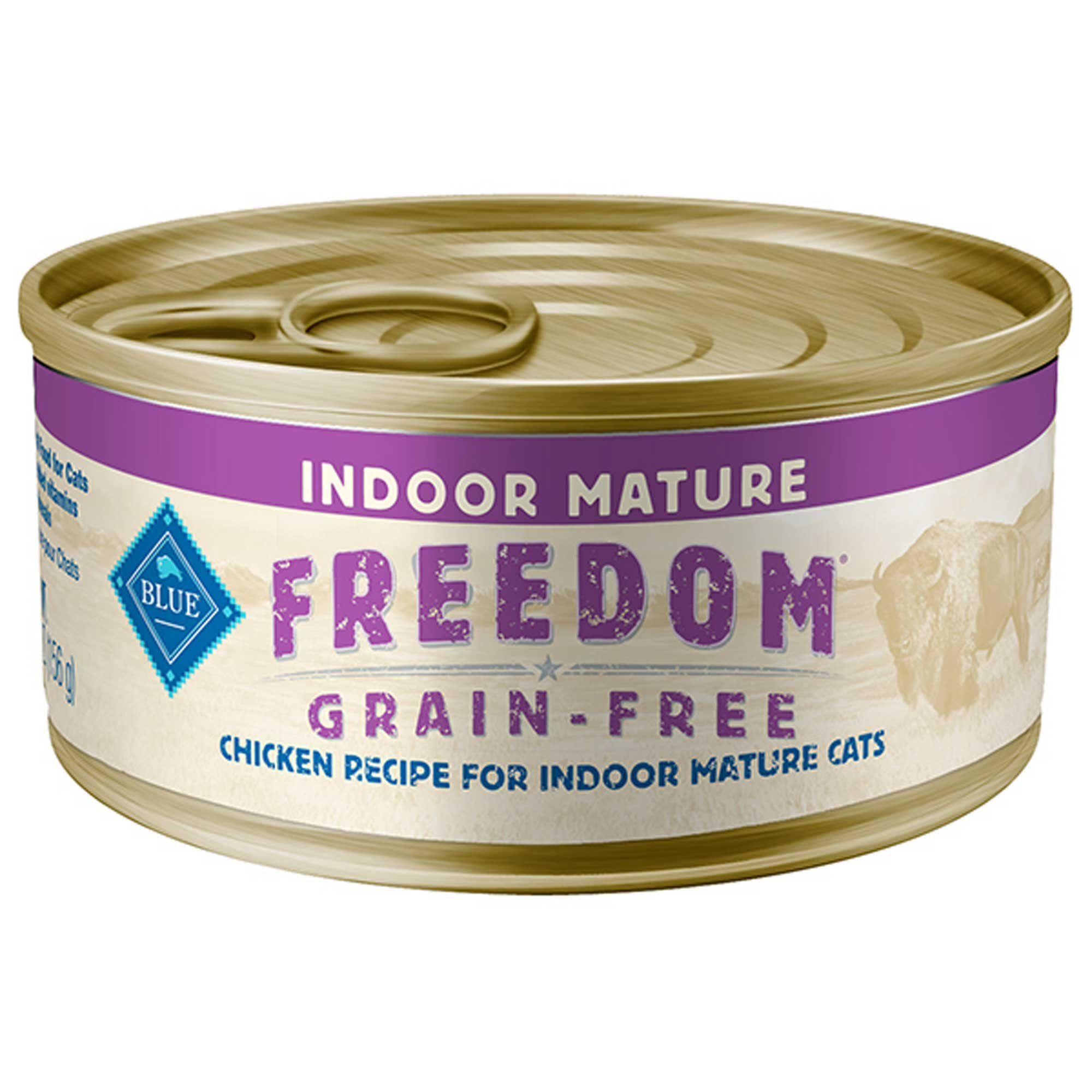 Blue Buffalo Blue Freedom Grain Free Indoor Chicken Senior Canned Cat Food 5 5 Oz Case Of 24 24 X 5 5 Oz Canned Cat Food Grain Free Food