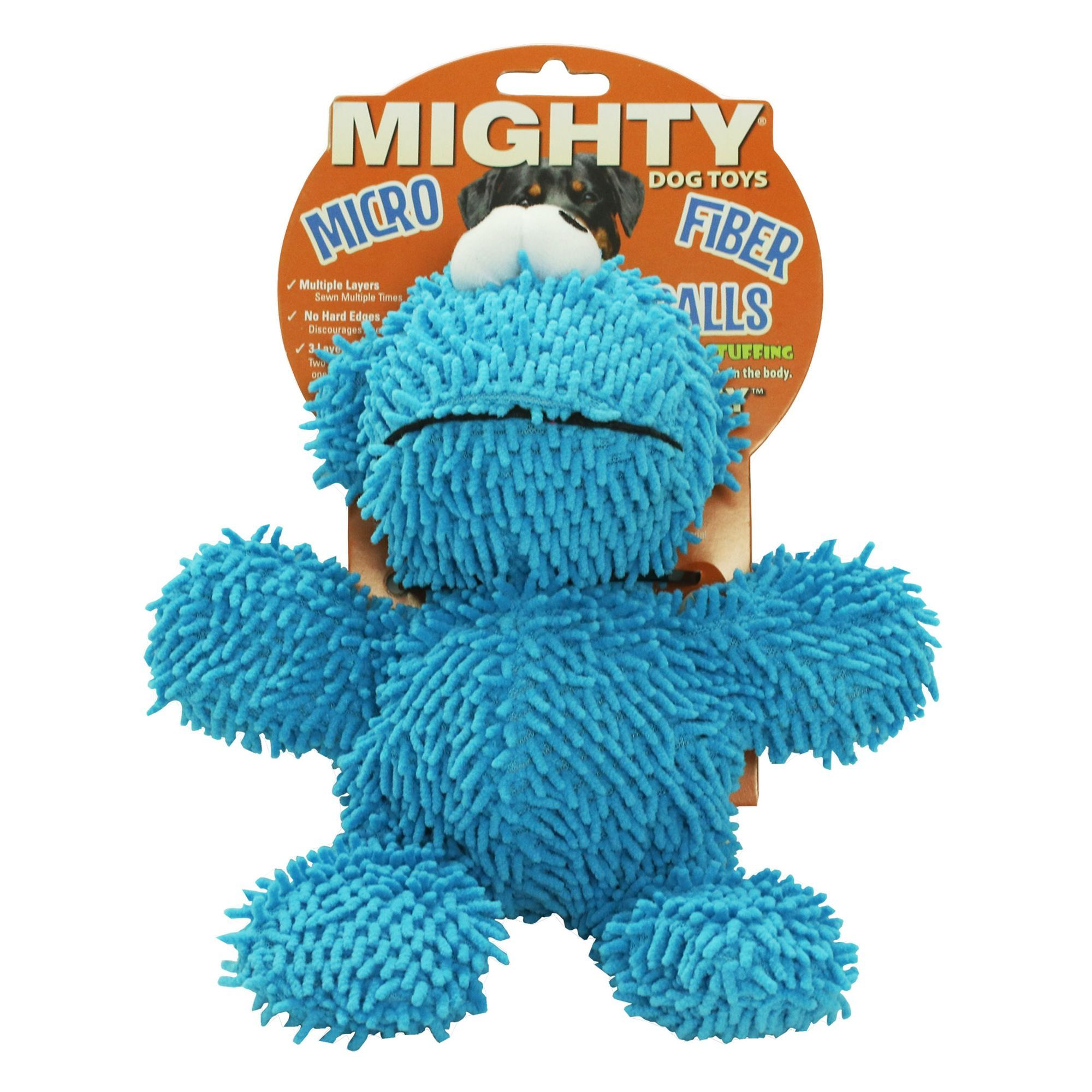 Mighty Dog Toys Microfiber Ball Monster Dog Toy Plush Squeaker