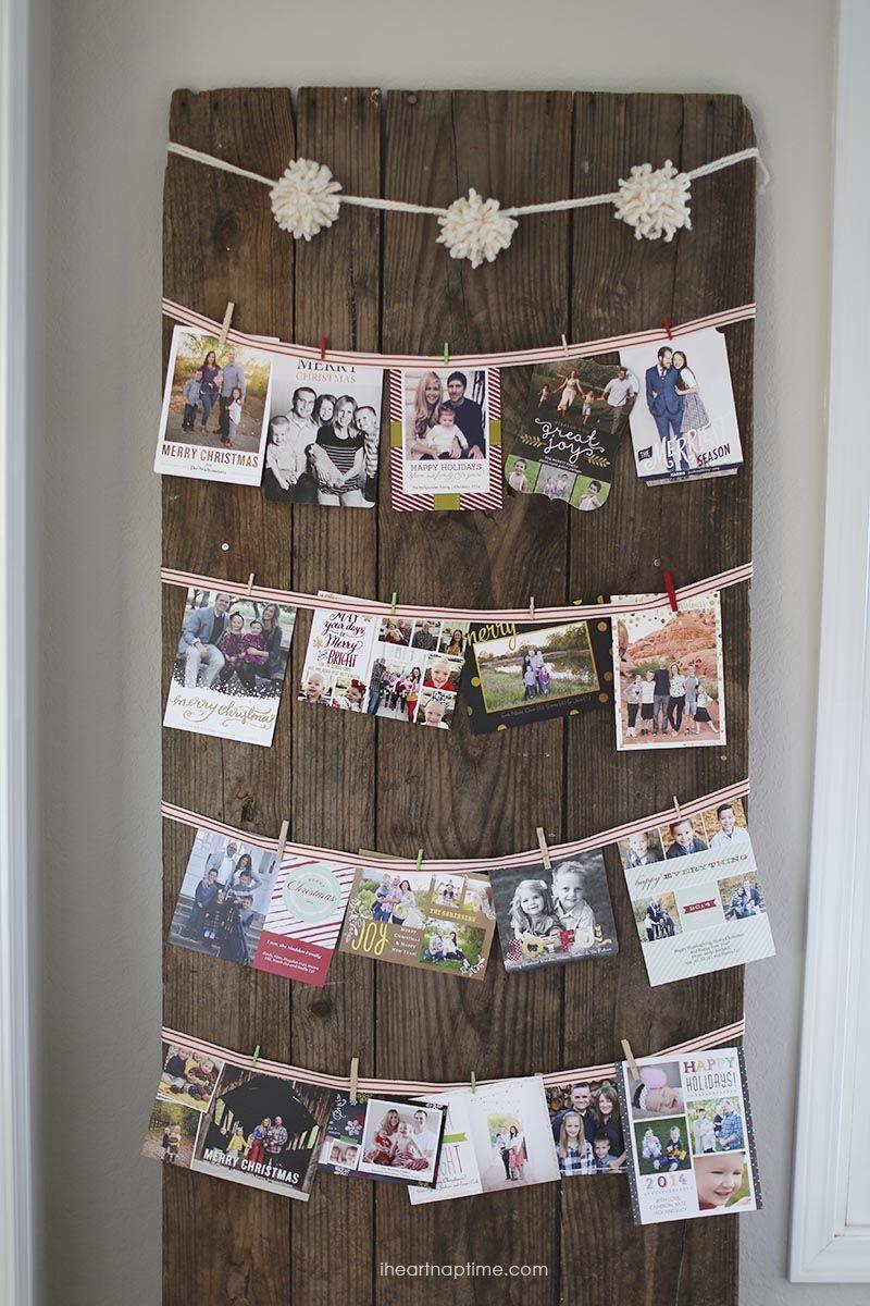 Cute way to hang Christmas cards | Holidays - Christmas & Winter ...