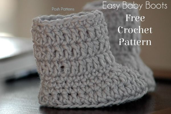 Free Baby Boots Crochet Pattern   Baby boots, Martha stewart and ...