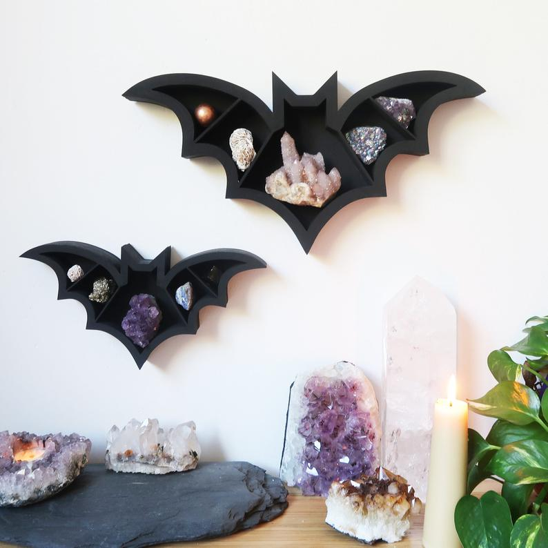 Photo of Bat Crystal Shelf, Crystal display shelf