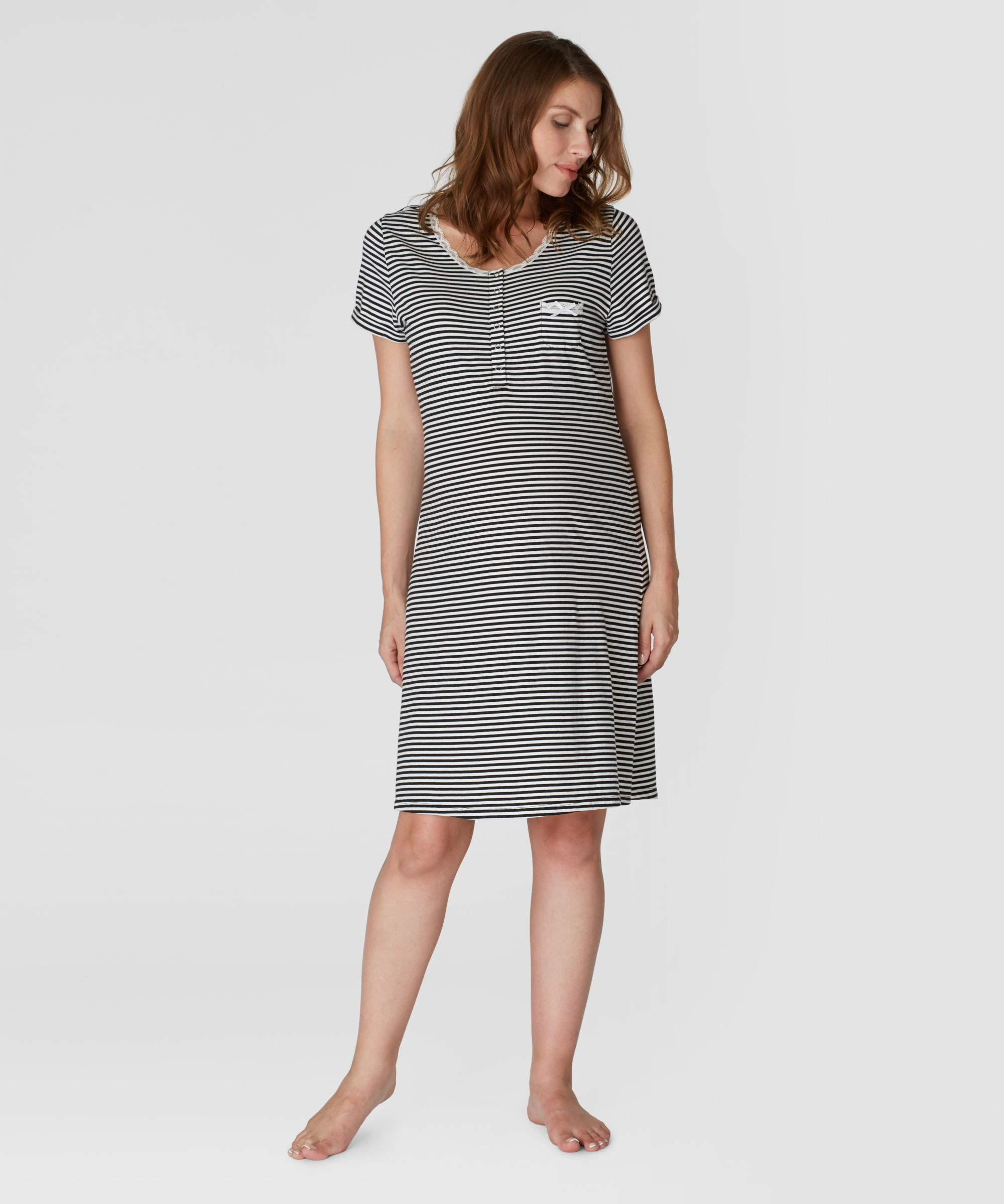 And plain maternity nightdresses 2 pack stripe and plain maternity nightdresses 2 pack ombrellifo Choice Image