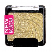 This is the PERFECT golden shimmer shade that I love to use from lids to brow. And it's under $2 a pop. Cannot ever go wrong with a neutral shade like this as a base color before doing a smoky eye, adding another color to your lids, or use alone with false lashes for a beautiful shimmer. :) Love it. :)  Wet n Wild Color Icon Collection Shimmer Single