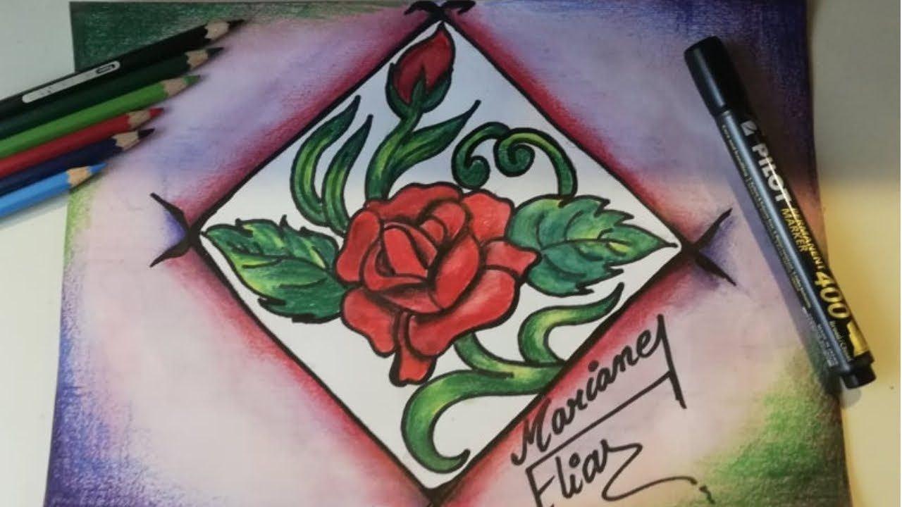 Alekhan Drawing Easy Way To Draw Flower Of Rose In 2020 Flower Drawing Easy Drawings Drawings