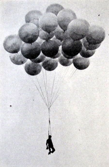 Larry Walters gained weird-news fame in 1982 when he tied 45 helium-filled weather balloons to a lawn chair and took an unscheduled flight over Los & On September 28 1937 news photographer Al Mingalone was on ...