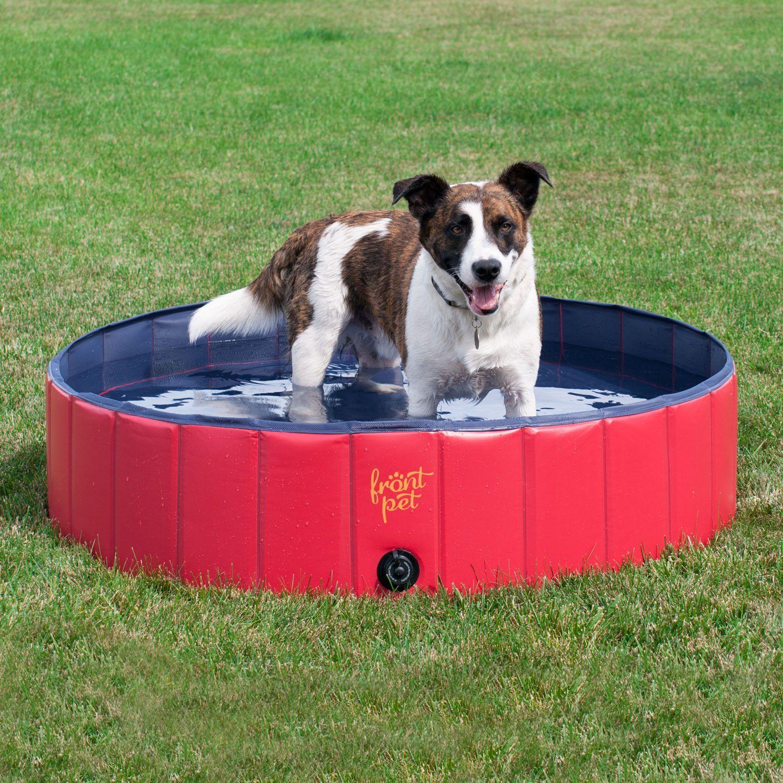 Folding Dog Pool With Drain Plug Small Dog Swimming Pools