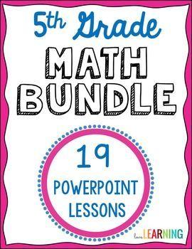 5th grade math powerpoint bundle for the year math third fourth
