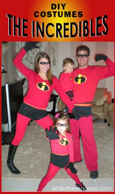 How To Make The Incredibles Halloween Costumes Lol The Girls Have Talked About This Sinc The Incredibles Halloween Costume Incredibles Costume Costume Contest