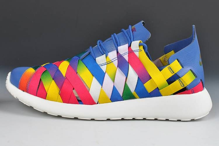 nike woven roshe womens shoes multi colored