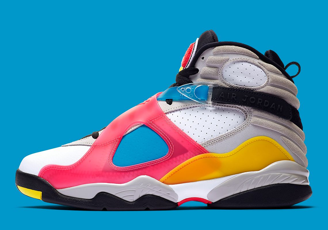 Embutido ~ lado impaciente  The Air Jordan 8 Retro SP With Colored Translucent Uppers Releases ...
