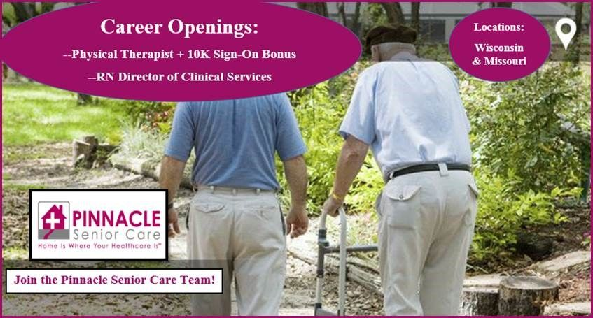 Our Pinnacle Senior Care is excited to hire an RN
