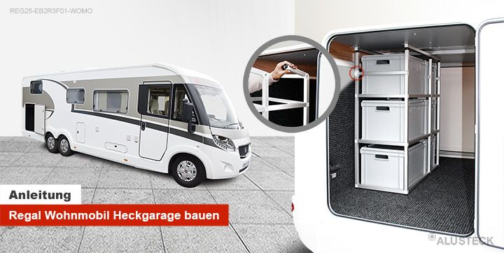 regal f r die wohnmobil caravan oder camper heckgarage. Black Bedroom Furniture Sets. Home Design Ideas