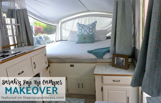 Sarahs Pop Up Camper Makeover Camper Makeover Camper Remodeling