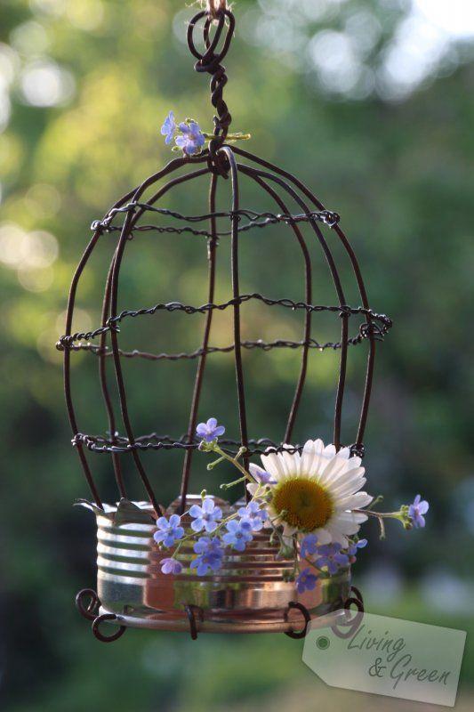 Birdcage DIY - Dosen Upcycling Vogelkäfig DIY | Gartenparty ...