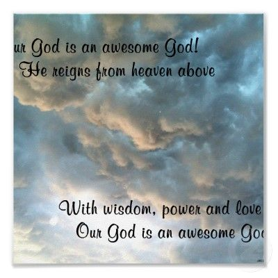 Our God Is An Awesome God Poster Zazzle Com Our God Names Of
