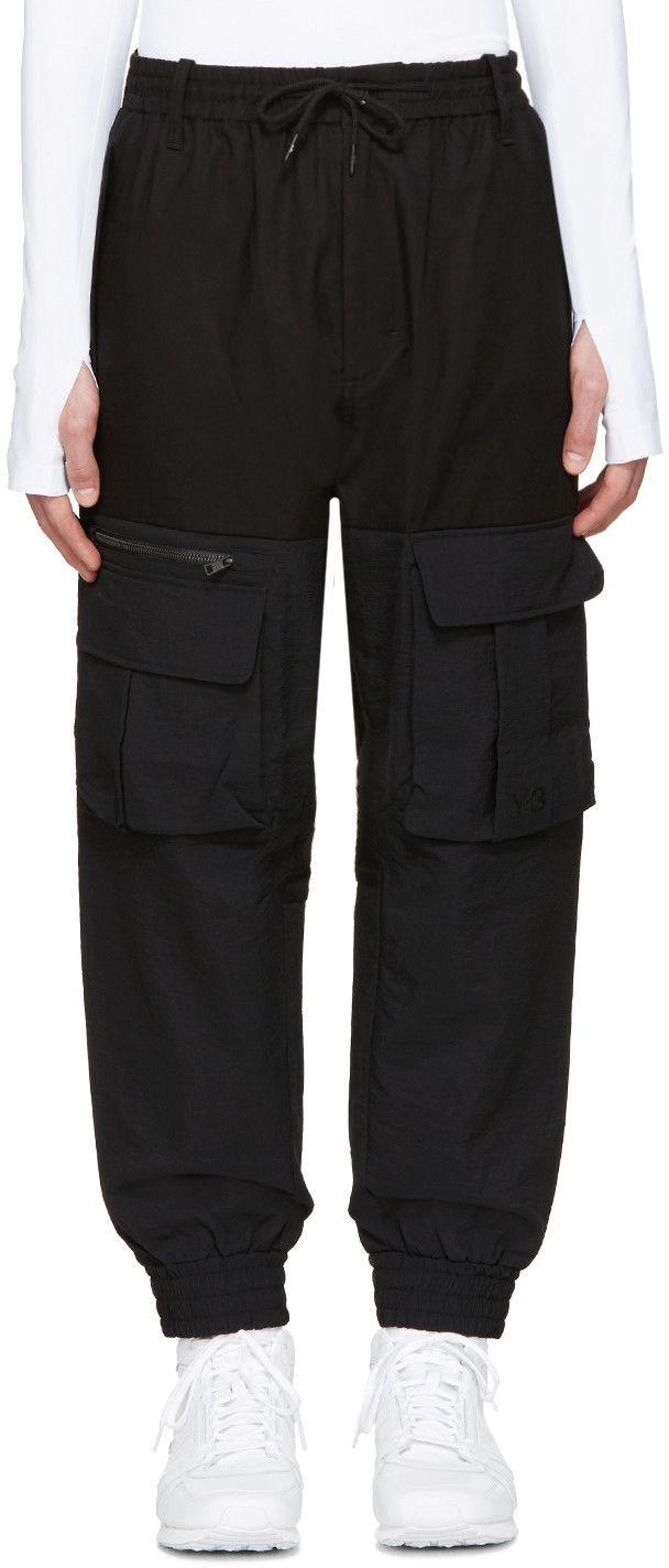 1fe47fdf3c2bc Y-3 Black Air Mesh Cargo Pants.  y-3  cloth  pants