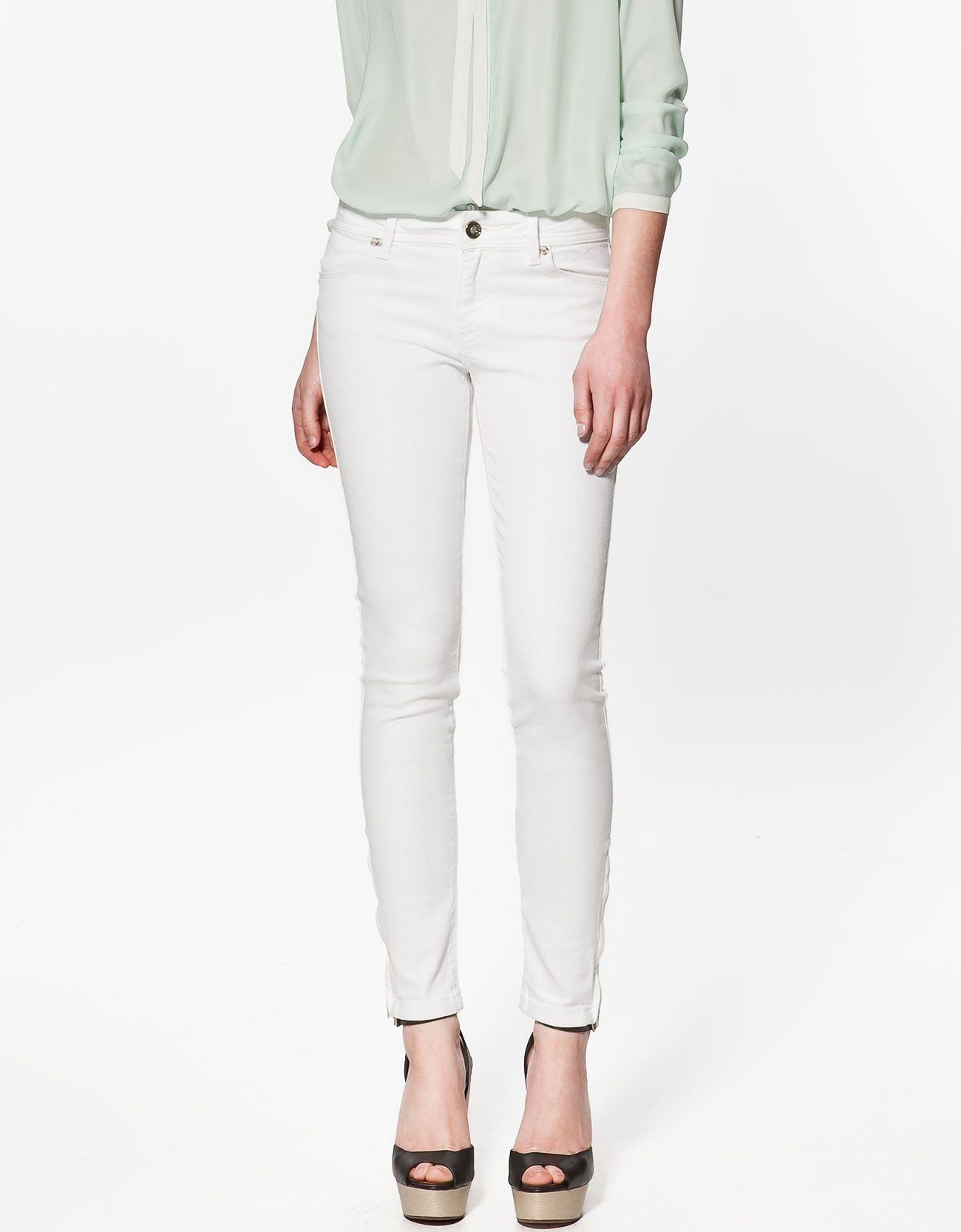 3312646060 White Trousers from Zara | Clothing | White skinny pants, Zara ...