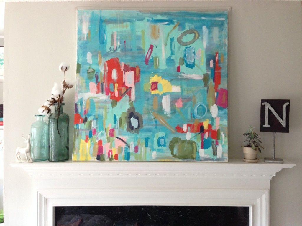 DIY Abstract Art/ My Pretty Pennies | Paintings | Pinterest ...