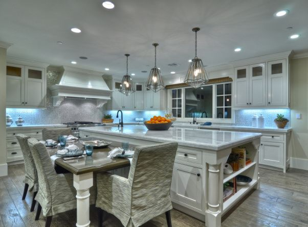 Kitchen Island With Dining Table Attached kitchen island with attached table | kitchen - kewamee - kitchen