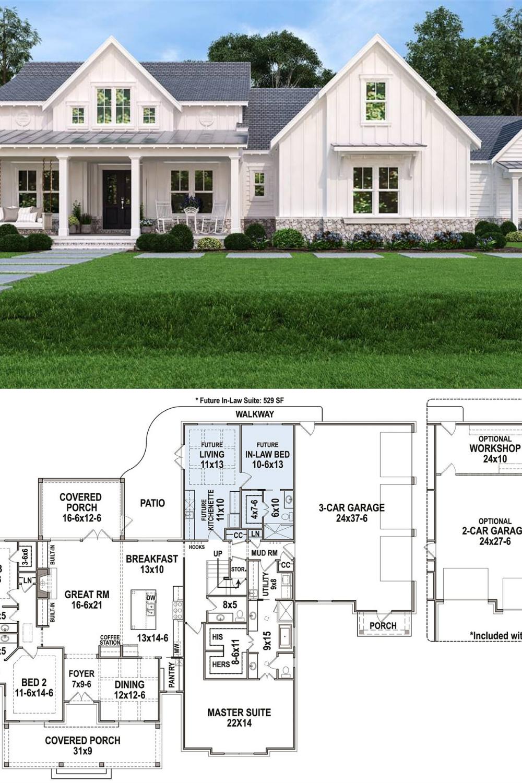 30++ 3 story farmhouse type