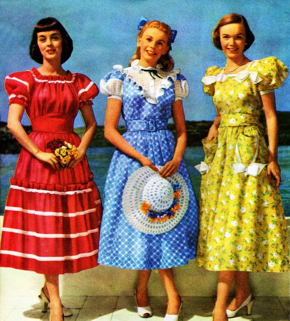 Teens Party Dresses 1940s