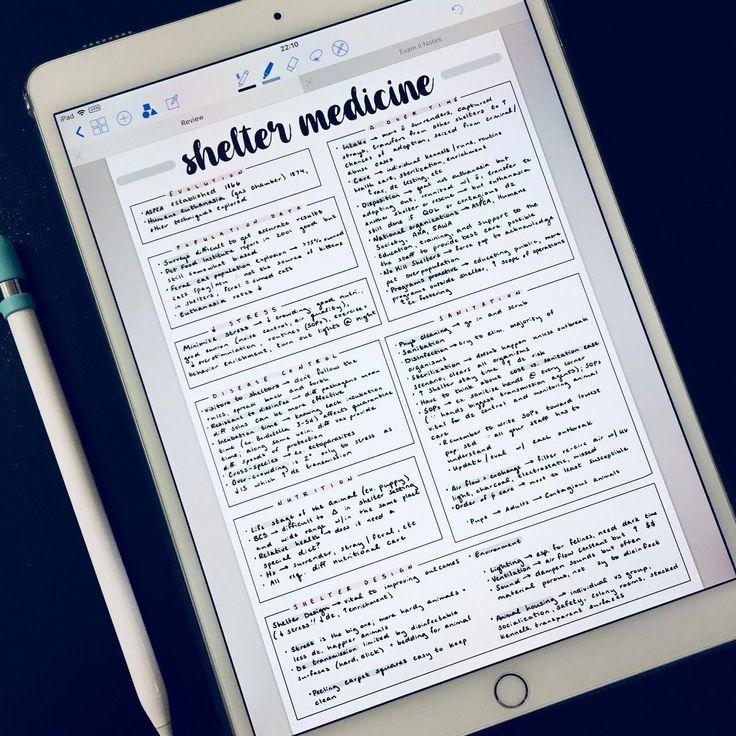 Vet School Studies HandwritingTips School motivation