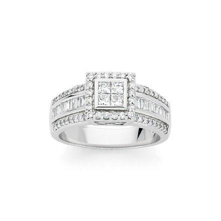 9ct White Gold Diamond Ring Angus Coote Diamond Rings Gold