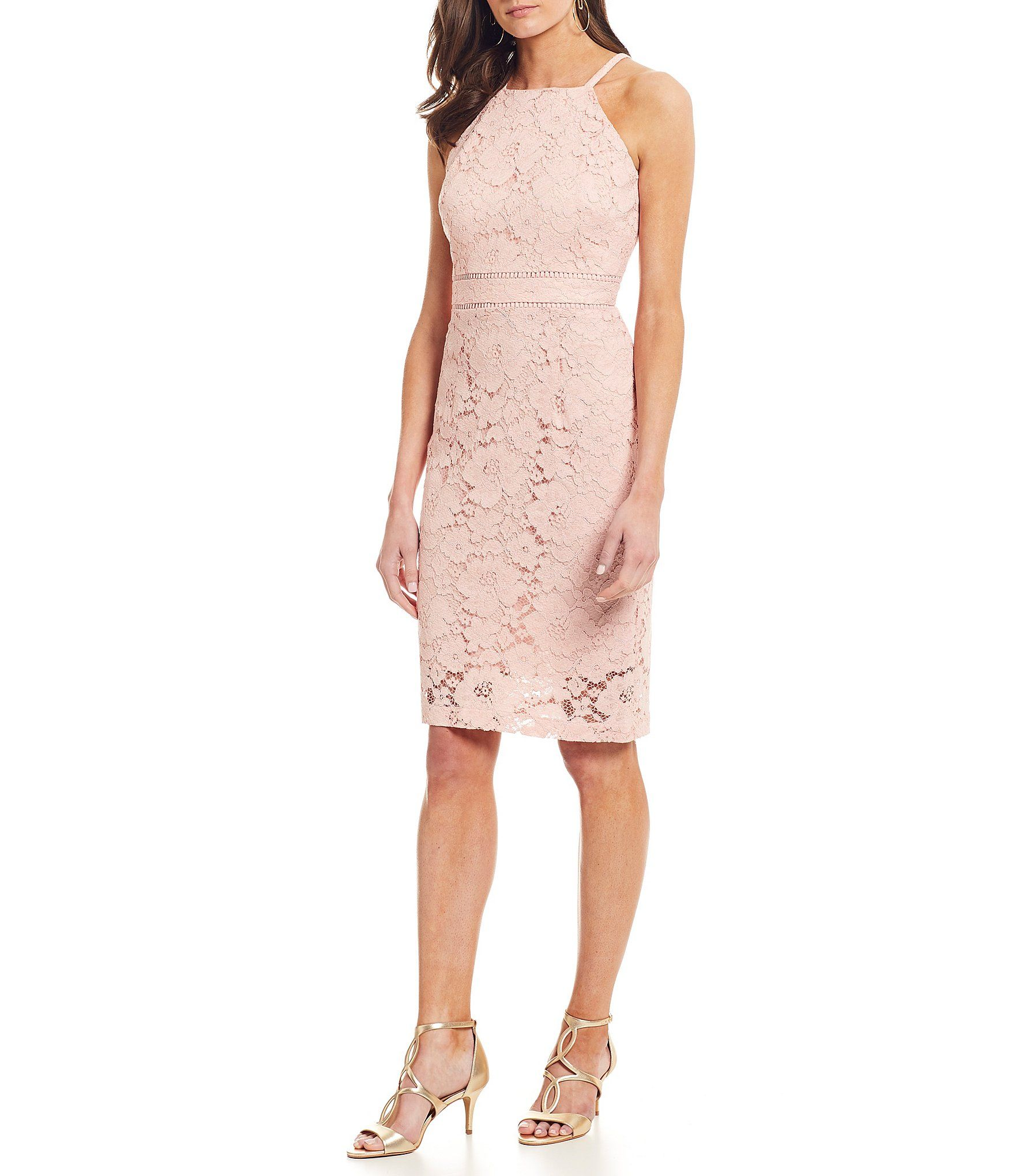 Shop For Vince Camuto Sleeveless Halter Lace Sheath Dress At Dillards Com Visit Dillards Com To Find Clothing Accessorie Dresses Lace Dress Lace Sheath Dress [ 2040 x 1760 Pixel ]