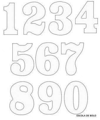 clipart-numbers-6 letras Pinterest - numbers templates free