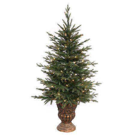 4 Pre Lit Potted Norwood Fir Artificial Christmas Tree Clear Lights Walmart Com Christmas Tree Sale Green Christmas Tree Christmas Tree Clear Lights