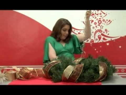 Como hacer una corona navideña