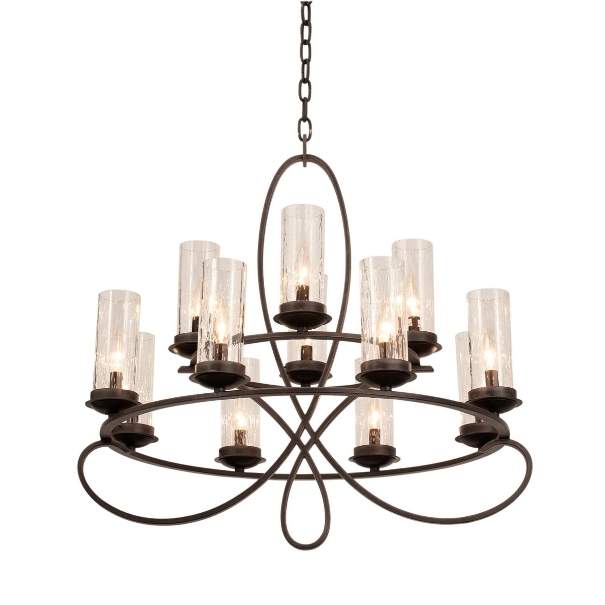 Kalco lighting grayson 12 light chandelier in heirloom bronze 2675hb 1100 at lighting new york