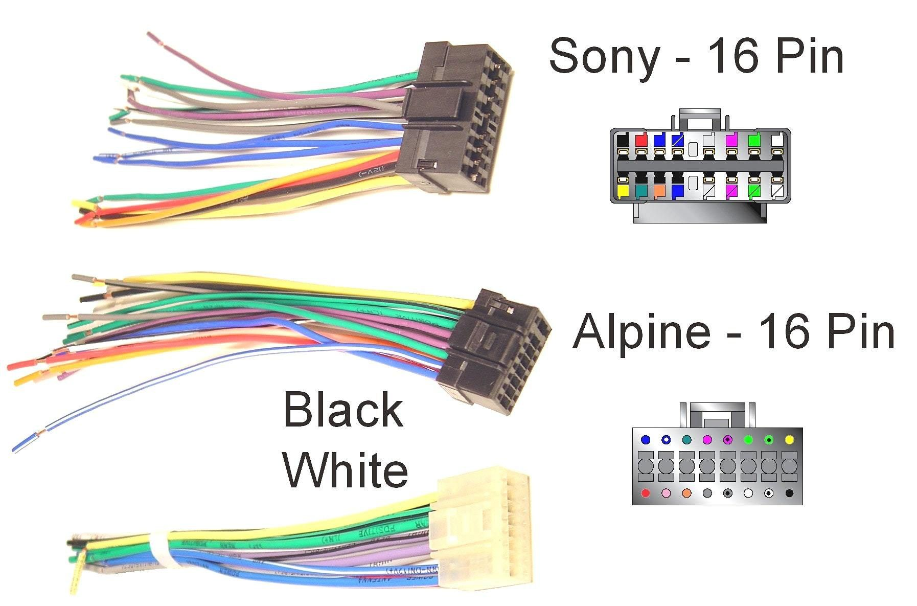 Electrical Wiring Diagrams For Cars Sony car stereo, Car