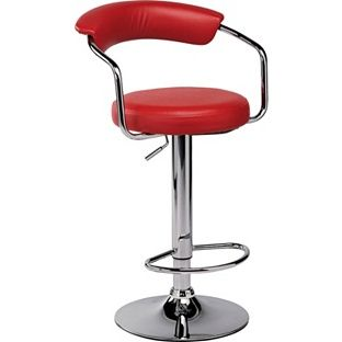 newest 85899 6b5dc Buy Executive Red Gas Lift Bar Stool at Argos.co.uk - Your ...