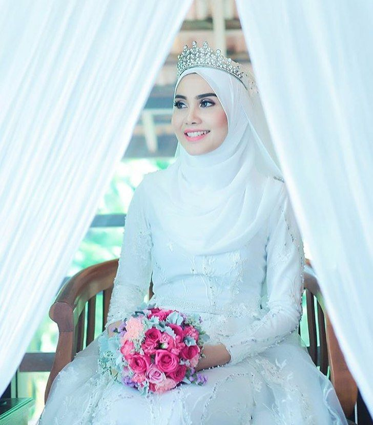 Sit down and smile like a queen | Muslim Bridal Hijab(Niqab ...