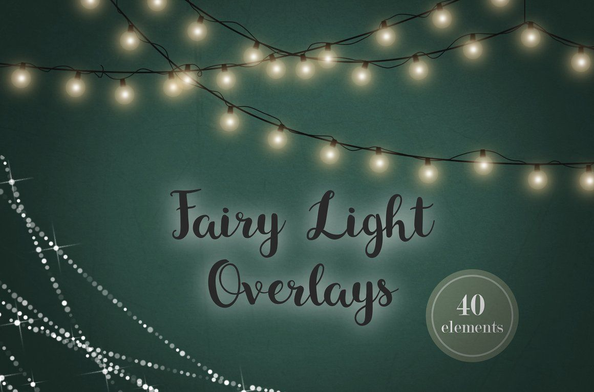 Fairy Light Effects Lights Clipart Patterns Strings Of Glowing