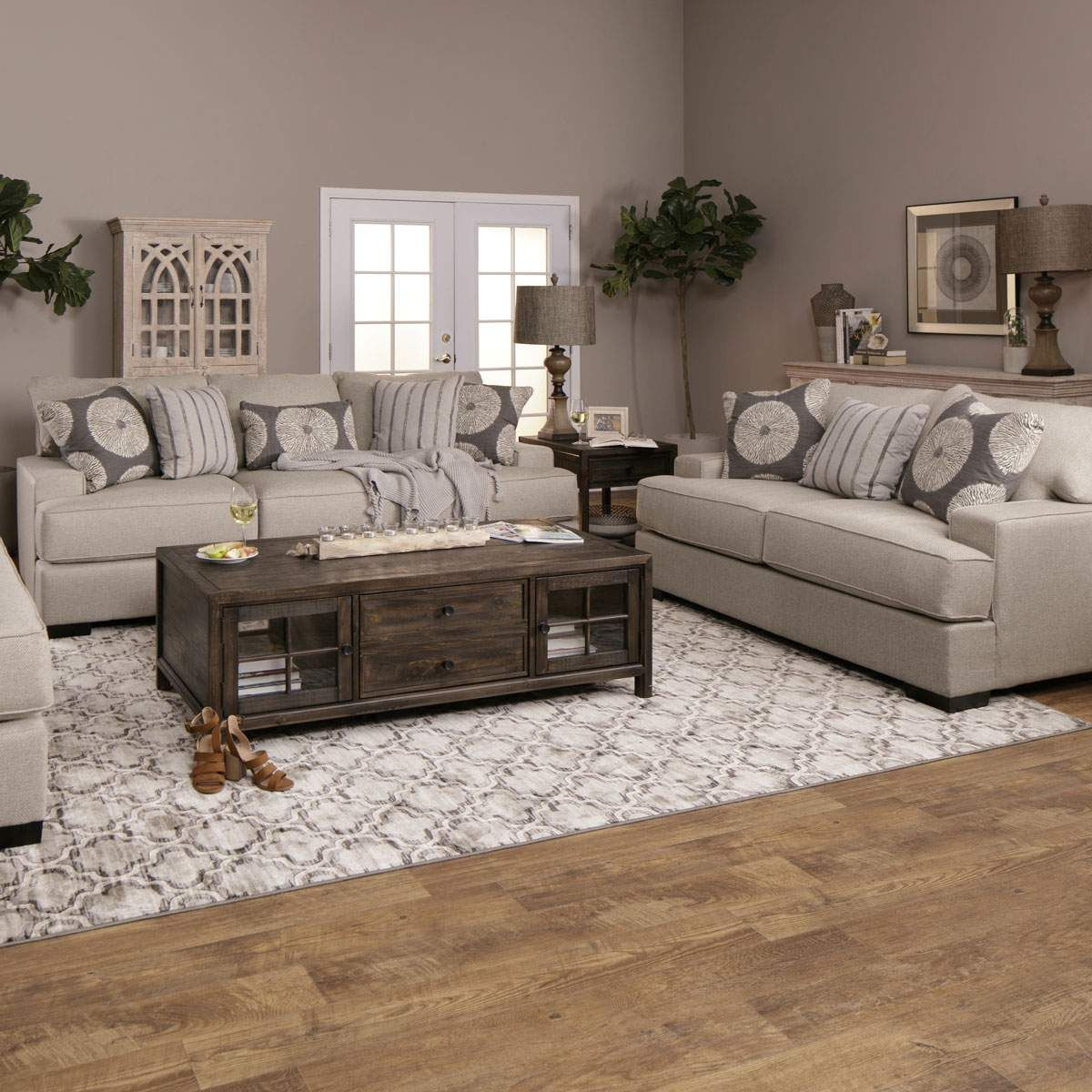 Transform Your Home Into Your Own Cottage Getaway With The Light Airy Colors Of The Wynwood Living R Farm House Living Room Rustic Living Room Living Room Sets #olsberg #steel #living #room #set