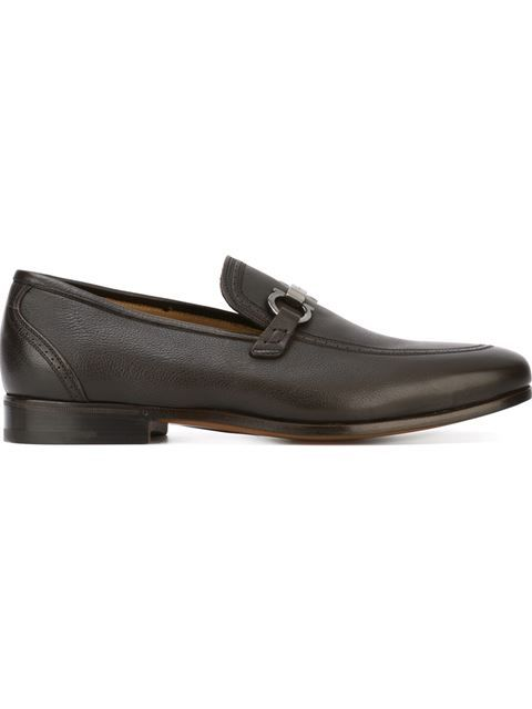 Salvatore FerragamoMen's Parigi Double Gancini Bit Pebbled Leather Loafers 9IiU3NyQ