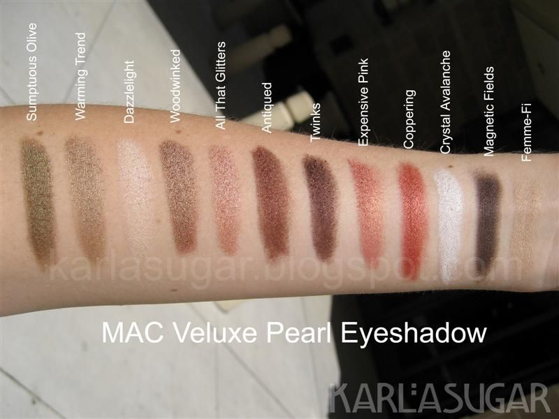 MAC Eyeshadow: Veluxe and Veluxe Pearl, Swatches, Photos, Reviews ...