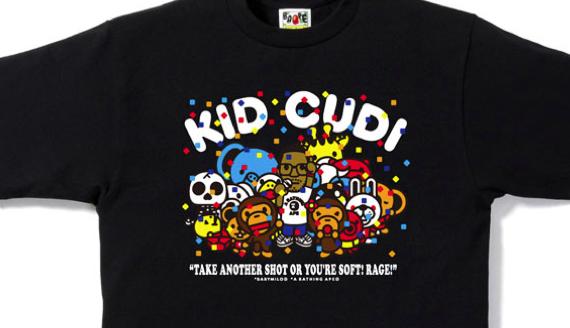 kid cudi bape shirt