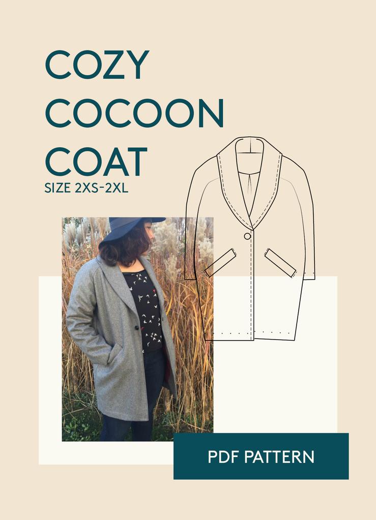 Cocoon Coat Sewing Pattern | Jacken | Schnittmuster | Pinterest ...