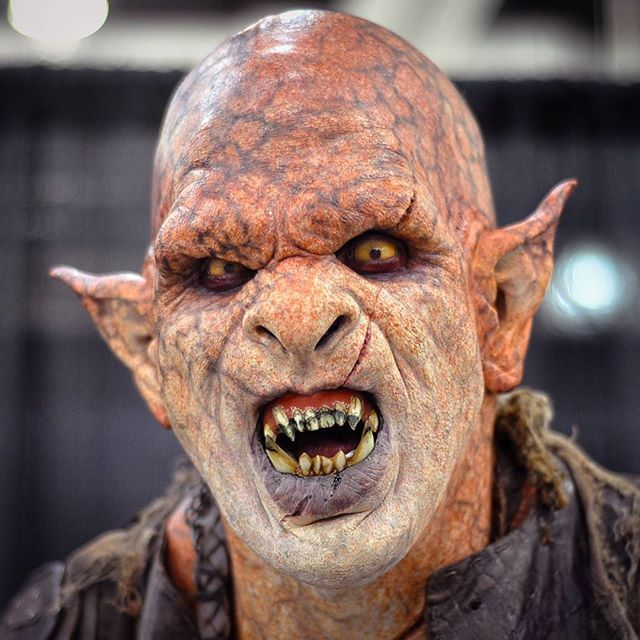 Really cool Orc makeup by John Wrightson at the Immortal Masks booth ...